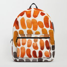Yellow Ochre Brown Dark Brown Fall Autumn Color Palette Natural Patterns Colorful WatercolorAbstract Backpack