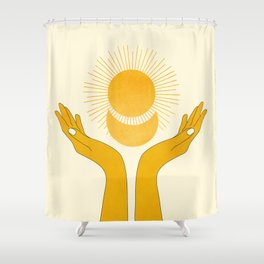 Holding the Light Shower Curtain