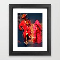 Rajasthani Performers Framed Art Print