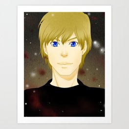 Alexis's blue eyes Art Print