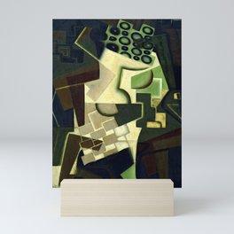 """Juan Gris """"Compotier et nappe à carreaux (Fruit Dish on a Checkered Tablecloth)"""" Mini Art Print"""