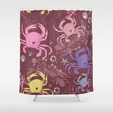 Crab pattern Shower Curtain
