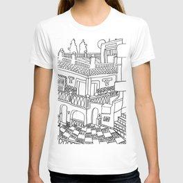 Beautiful Mediterranean Rooftop Escape T-shirt