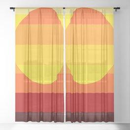 Sunset Stripe Sheer Curtain