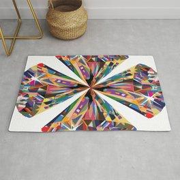 Group of Beautiful Colorful Diamonds Juxtaposed Rug