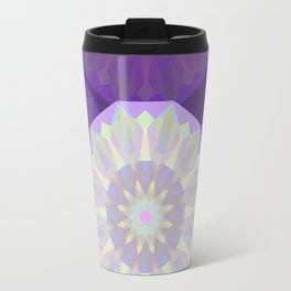 Round Iridescent Geometric Background Travel Mug