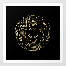Gold Disc Art Print