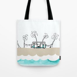 Surfer Van - Surf Art - Gone Surfing Tote Bag