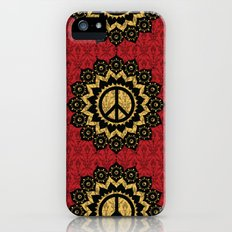 Peace Mandala Pattern Print Red Edition Slim Case iPhone (5, 5s)