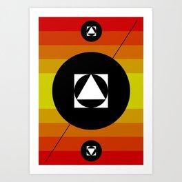 Hot Lights of Symmetry Art Print