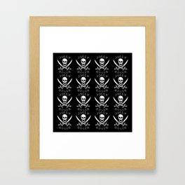 jolly-roger-pattern Framed Art Print