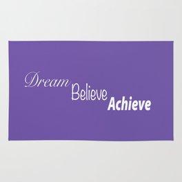 Dream Believe Achieve Ultra Violet Rug