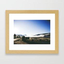 A Drive Through Yellowstone Framed Art Print