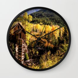 Colorado Autumn at Crystal Mill Wall Clock