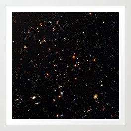 Beautiful Universe Ultraviolet Deepfield Galaxy Universe Star Map Art Print