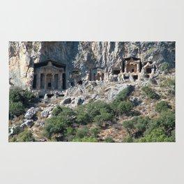 Carved Rock Tombs at Dalyan Rug