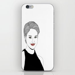 Shailene Woodley Illustration iPhone Skin