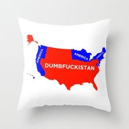 Dumbfuckistan Throw Pillow