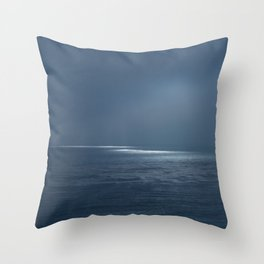 Ocean Glow Throw Pillow