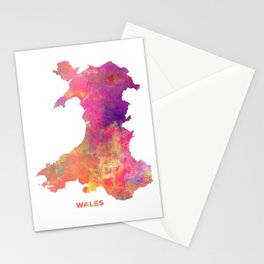 Wales map #wales #map Stationery Cards