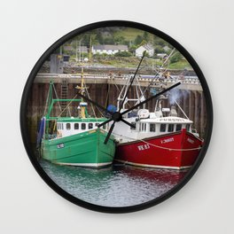 Lochinver harbour Wall Clock
