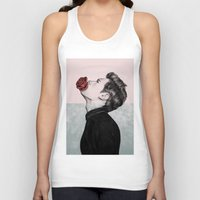 mouth Tank Tops featuring Mouth Flower by Sofia Azevedo