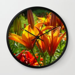 Iris Flowers - For a beautiful day Wall Clock