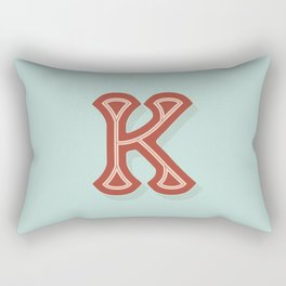 BOLD 'K' DROPCAP Rectangular Pillow