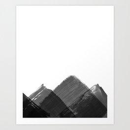 Minimalist Mountain Ink Art Print Art Print