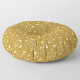 Gold Oasis Floor Pillow