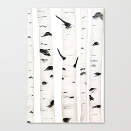 birch  watercolor Canvas Print