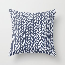 Winter snowstorm Throw Pillow