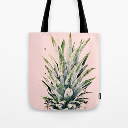 Pineapple, Plant, Green and Pink , Minimal, Trendy decor 02 Tote Bag