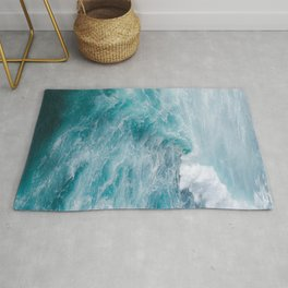 STORMY - BLUE - SEA - IN - SUNLIGHT - PHOTOGRAPHY Rug