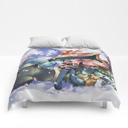 Kawaii Mix Poke Monster v7 Comforters