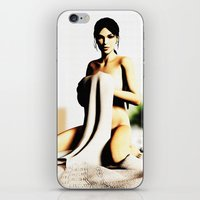 lara croft iPhone & iPod Skins featuring LARA CROFT by Ylenia Pizzetti