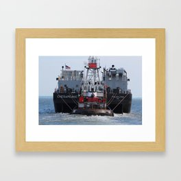 The Tug  Framed Art Print