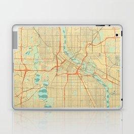 Minneapolis Map Retro Laptop & iPad Skin