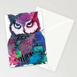 Watercolor Owl Stationery Cards