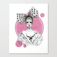 fancy Canvas Prints featuring Fancy by Tania Santos