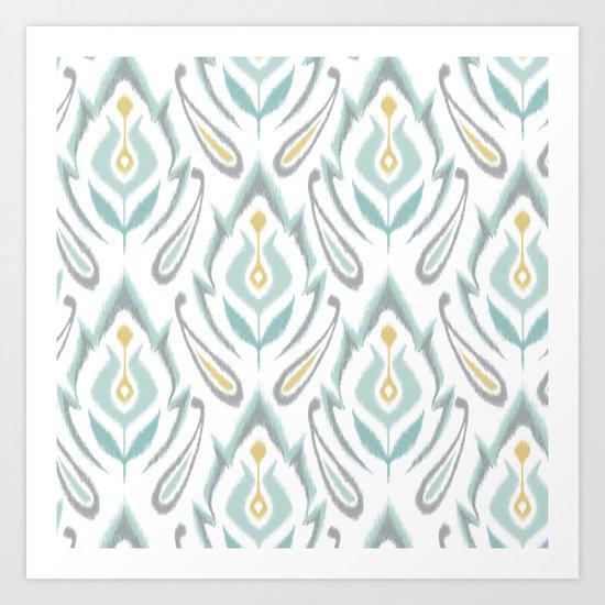Soft Ikat Art Print