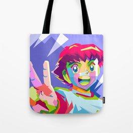 Captain Tsubasa in pop art wpap Tote Bag