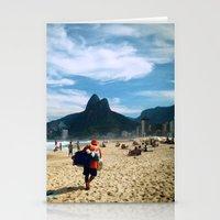 rio de janeiro Stationery Cards featuring Rio de Janeiro 2 by lulindemann