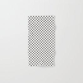 Crosses | Criss Cross | Plus Sign | Hygge | Scandi | Black and White | Hand & Bath Towel