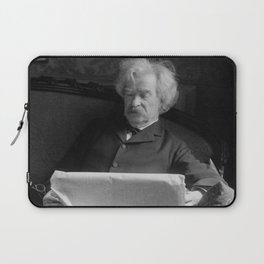 Mark Twain - American Author and Humorist Laptop Sleeve
