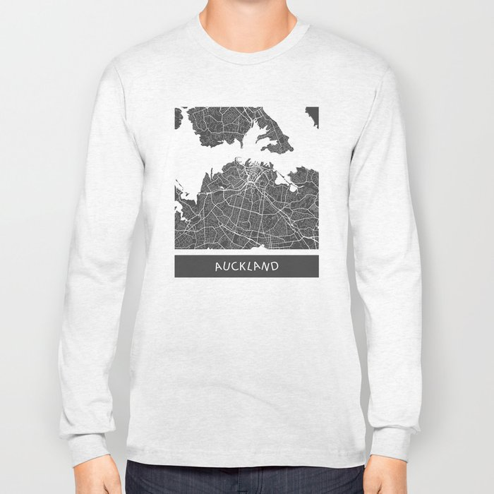 Auckland Map Long Sleeve T-shirt
