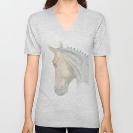 Wonderful dressage horse portrait from the side Unisex V-Neck