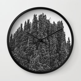 Mountain Shapes Wall Clock