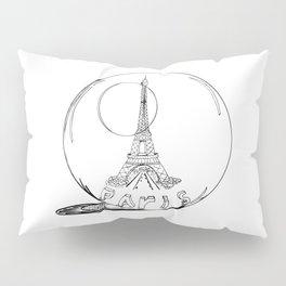 Paris in a glass ball .  City art, Decorative Prints, altwall, Home Decor Graphicdesign Pillow Sham
