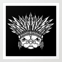 Tribal Pug Art Print